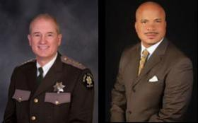 King County Sheriff John Urquhart (left) and Charles Gaither, head of the county's Office of Law Enforcement Oversight.