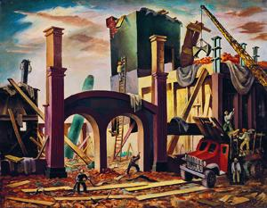 """Demolition"" by Yvonne Twining Humber, 1948."