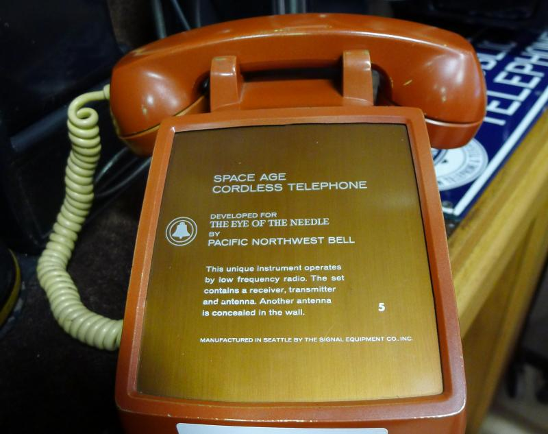 This was the cordless phone that was unveiled at the 1962 Seattle World's Fair.