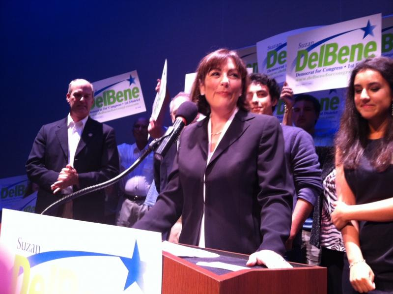 Suzan DelBene at a podium