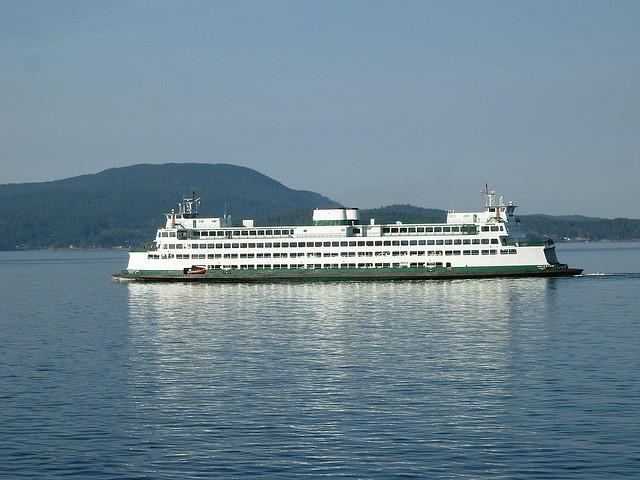 Wash. state ferry near Anacortes, September 2006.