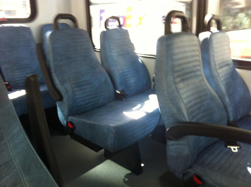Lots of empty seats on the first day of Metro's free downtown shuttle.