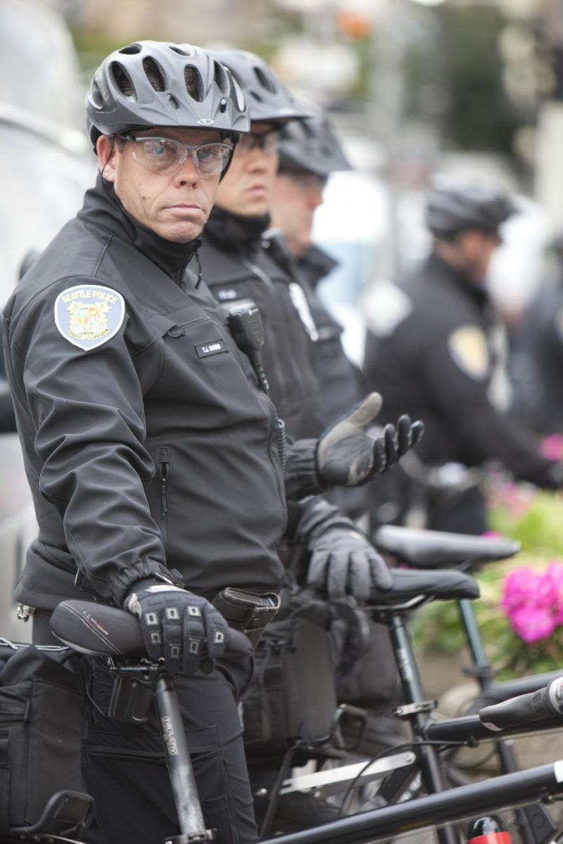 Seattle police at Occupy Seattle, October 2011.