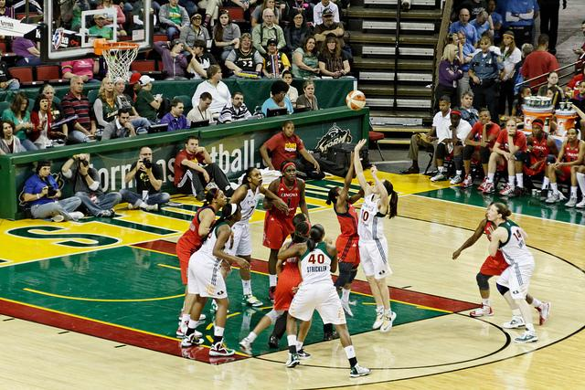 Seattle Storm playing Washington Mystics