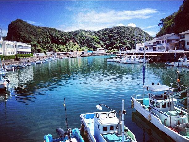 Boats used to chase dolphins in Taiji, Japan.