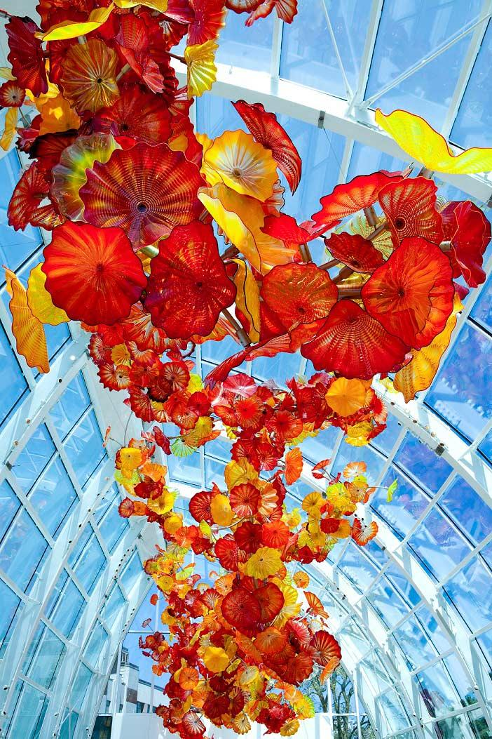 """Glasshouse Sculpture,"" at Chihuly Garden and Glass, Seattle 2012."