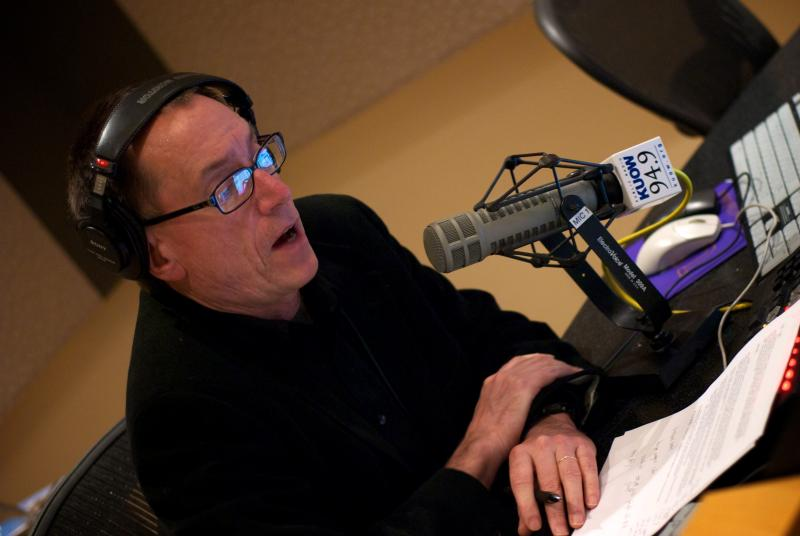 Host Ross Reynolds in the talk studio.