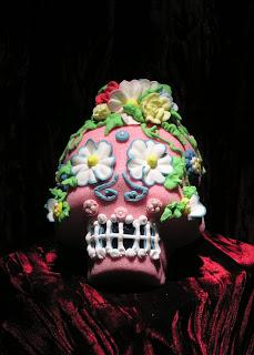 A sugar calavera, or skull, to celebrate Dia de los Muertos, from PW Kerr's in Seattle.