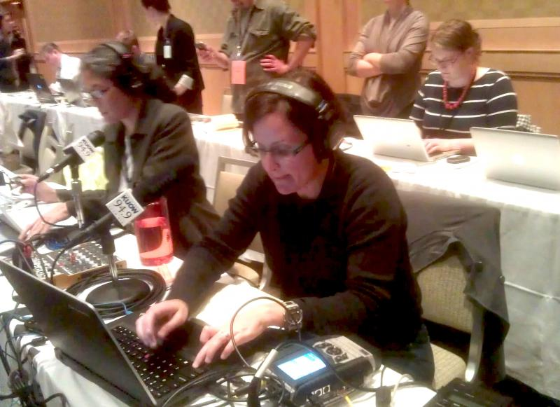 KUOW reporters Deborah Wang and Carolyn Adolph file stories from the Westin in Seattle.