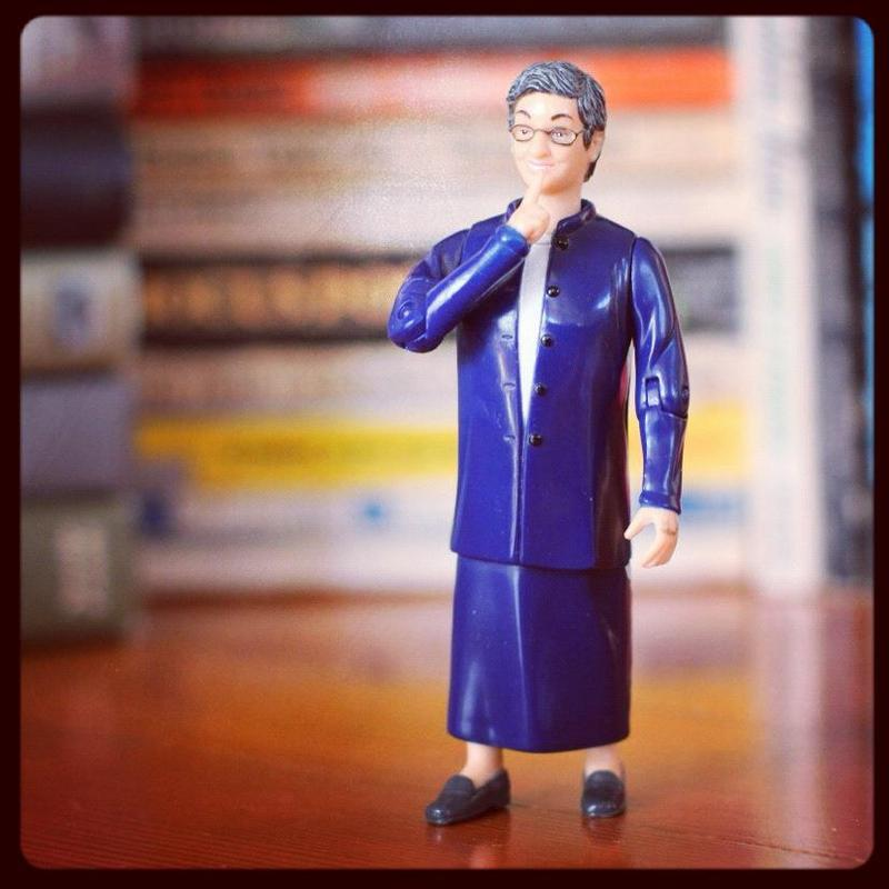 Librarian Nancy Pearl action figure.