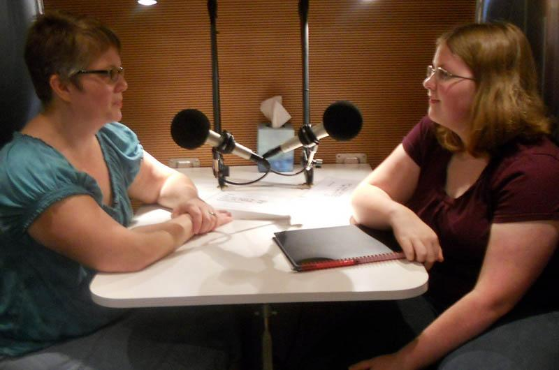 Claudia interviewing Rochelle for StoryCorps.