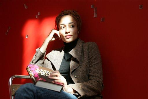 British author Zadie Smith relaxes in north London, Sept. 19, 2005.