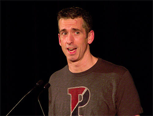 Dan Savage speaking at Western University, March 2012.