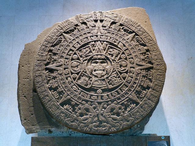 Mayan sun disc