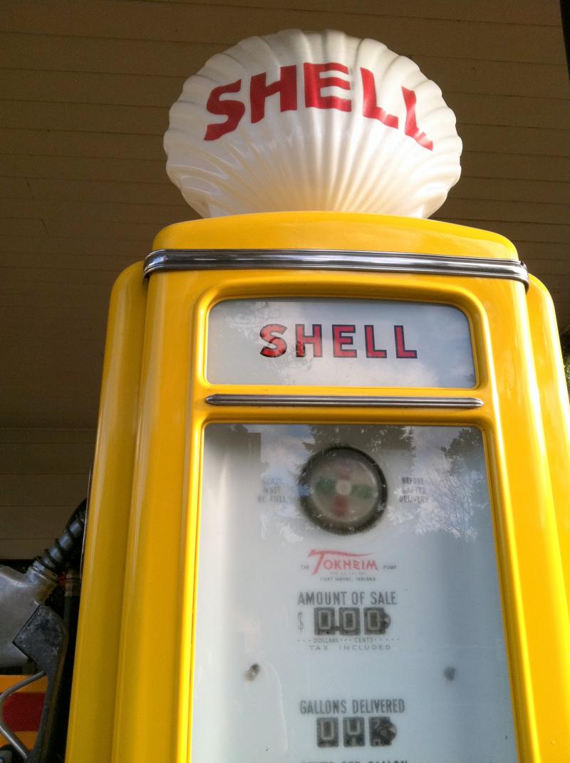 Historic gas pump