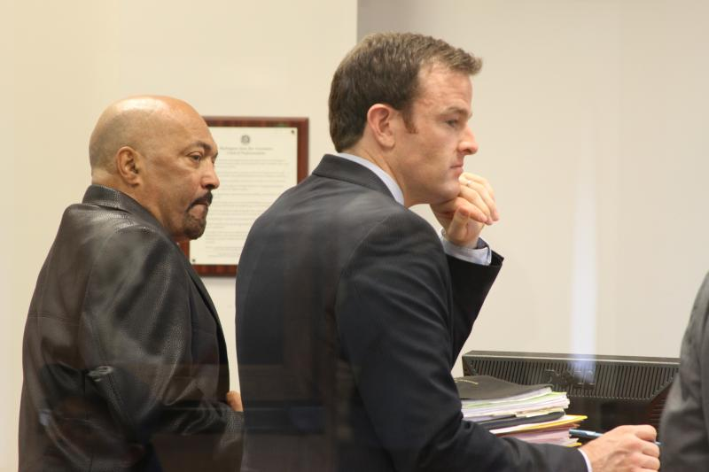 Silas Potter and his attorney Seth Conant in King County Superior Court Friday.