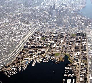 Aerial image from developer Vulcan highlights Seattle's South Lake Union