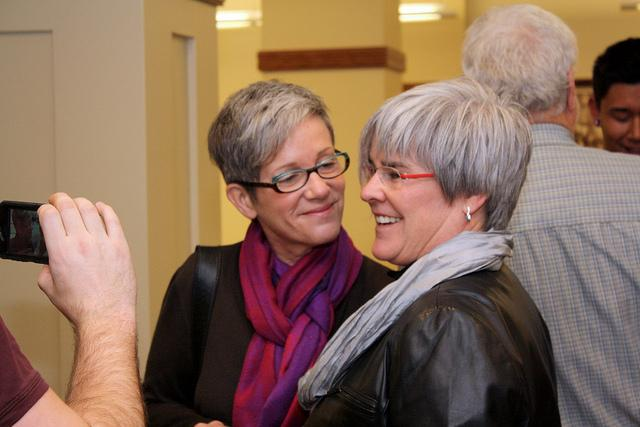 Same-sex couples applied for marriage licenses in Spokane, December 6, 2012.