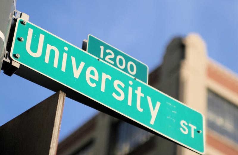 University Street sign.