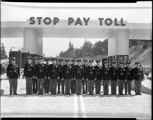 Operating personnel of the I-90 Lacey V. Murrow Memorial Bridge and SR 16 Tacoma Narrows Bridge in 1940.