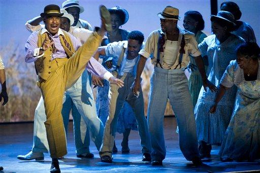 "David Alan Grier, left, and the cast of ""The Gershwins' Porgy and Bess,"" perform at the 66th Annual Tony Awards on Sunday June 10, 2012, in New York. The production won a Tony Award for best revival of a musical."