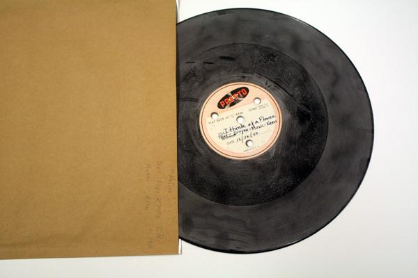 A vinyl recording from the collection of poet Theodore Roethke, 1950. From the Special Collections Archive, Allen Library, UW.