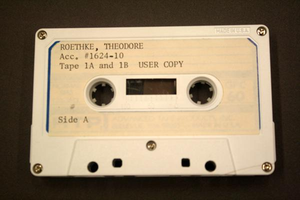 Storage further migrated again to cassette tape. From the Special Collections Archive, Allen Library, UW.