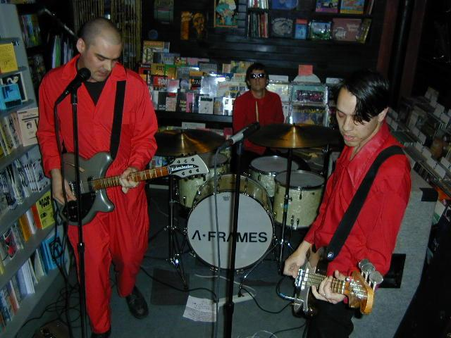 The A Frames' in-store performance.