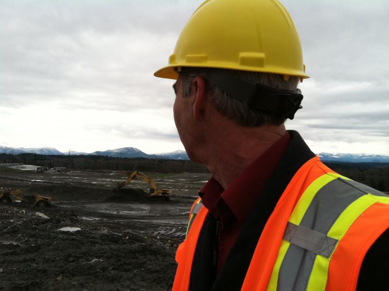 Cedar Hills Regional Landfill manager Dean Voelker surveys his domain