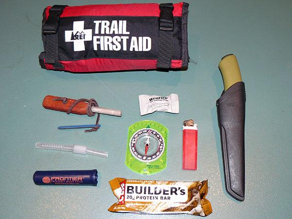 Jason Knight's survival kit.