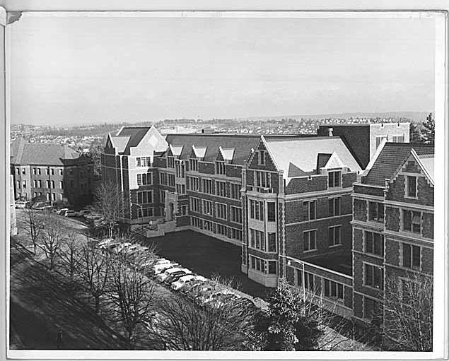 KUOW's early home back in 1955 at the Communications Building at the University of Washington.