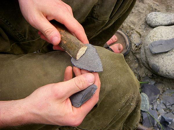 Stone tools can often be made from your surroundings.