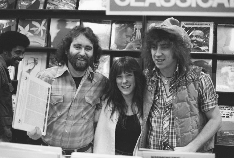 Dave Coker (left), Lori Hansen, and Elvin Bishop