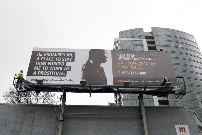 A poster aimed at battling sex trafficking in King County.