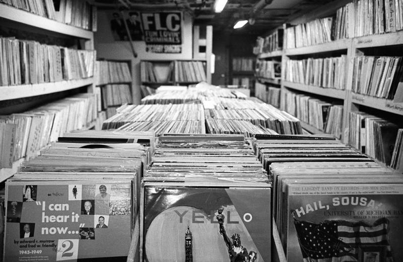 Vinyl records at Bop Street Records in Ballard.
