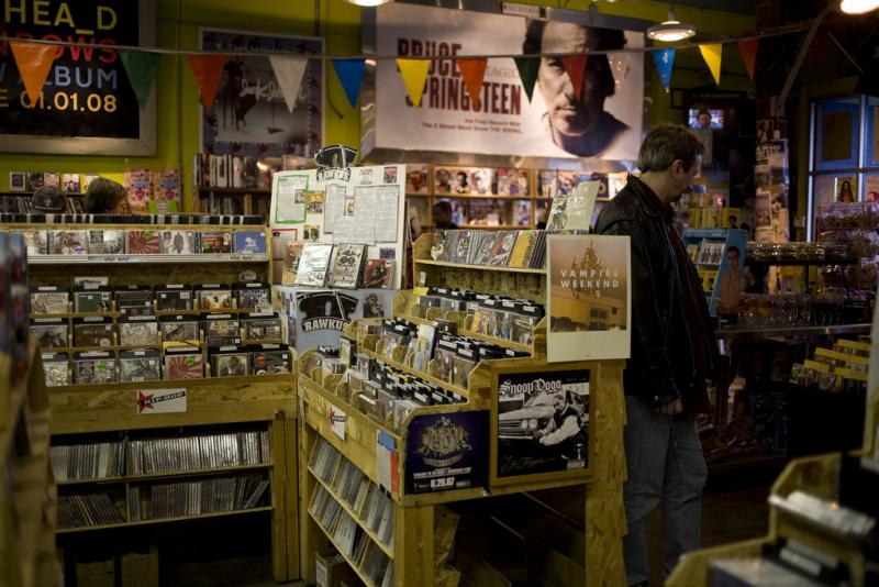 Easy Street Records in Queen Anne, 2006.