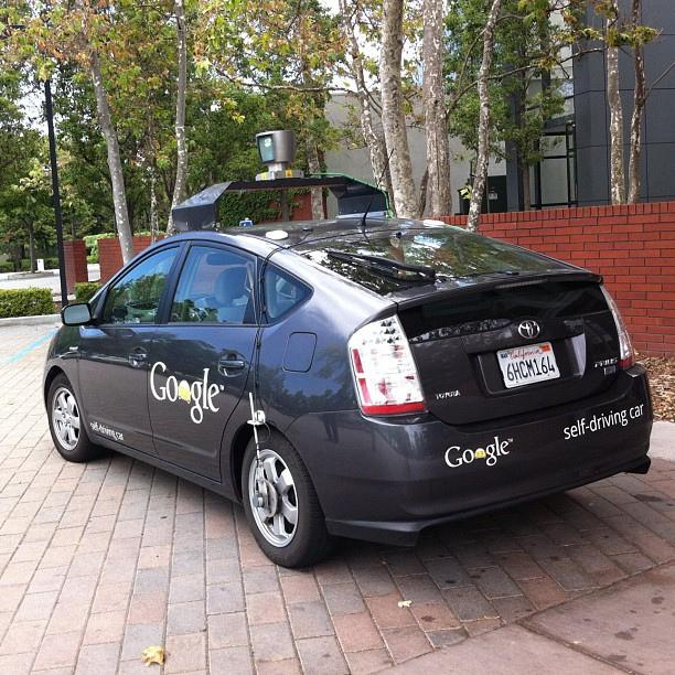 One of Google's self-driving cars in Mountain View, Calif., May 2012.