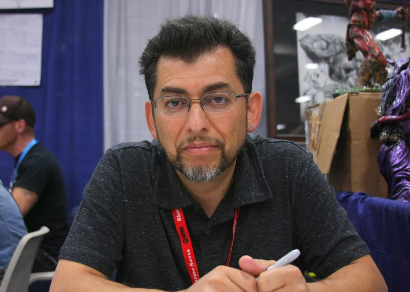 Jaime Hernandez at San Diego Comic Con in 2011.