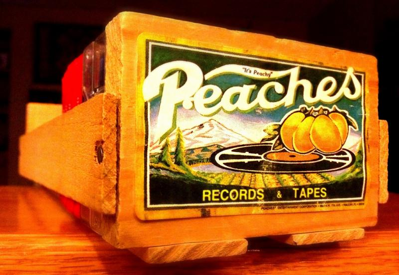 CD bin from Peaches Records and Tapes.
