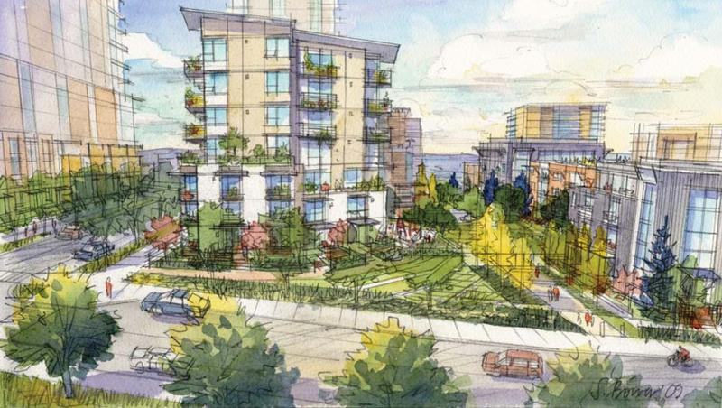 Artist's rendering of future Yesler Terrace