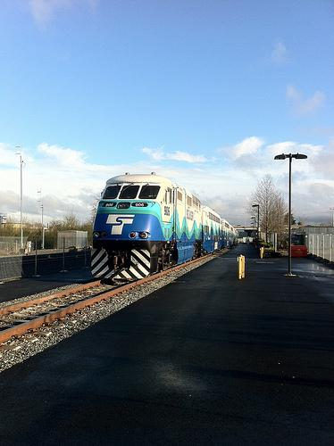 Sounder Commuter Train at Everett Station