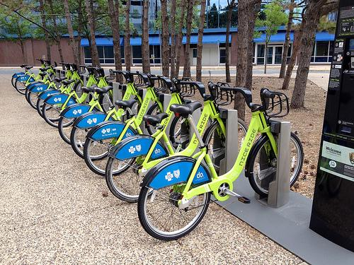 Bike Sharing Kiosks in St. Paul, Minnesota.