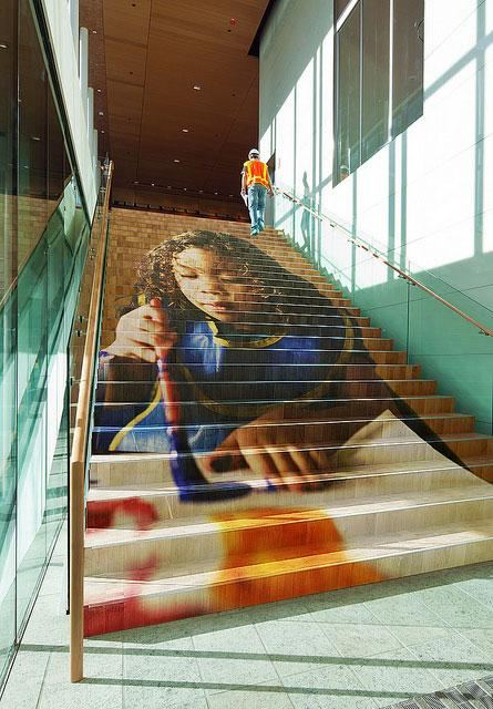 Education mural at the Bill & Melinda Gates Foundation, Seattle campus.