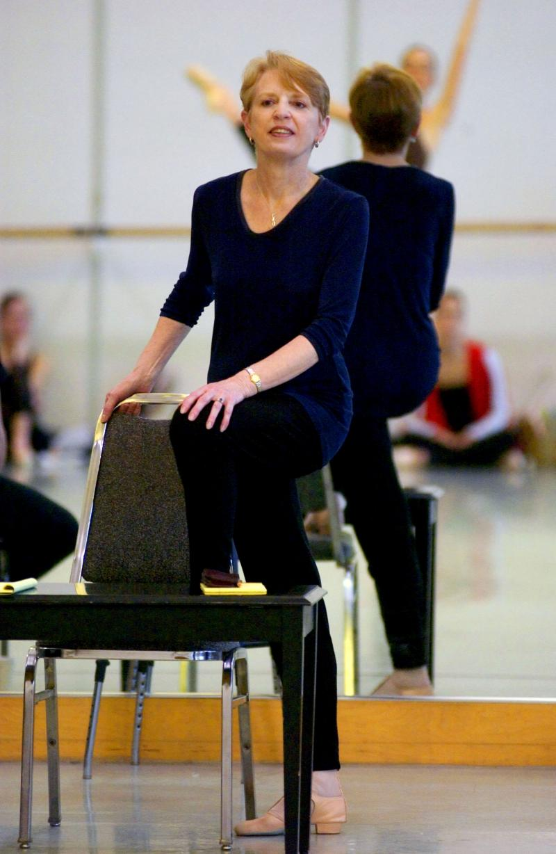 Francia Russell rehearses Balanchine at Pacific Northwest Ballet.