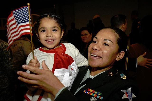 Happy participants in the military naturalization ceremony, Yongsan, Korea, Dec. 2008.