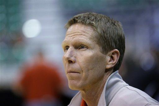 Gonzaga coach Mark Few watches practice for a second-round game of the NCAA men's college basketball tournament, Wednesday, March 20, 2013, in Salt Lake City. Gonzaga is scheduled to play Southern University on Thursday.