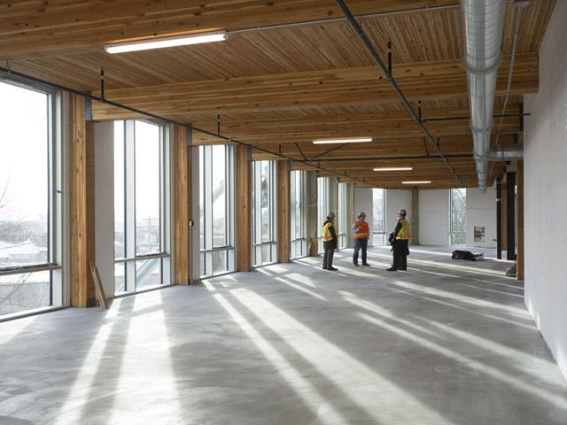 The Bullitt Center was constructed using all environmentally friendly, non-toxic materials.