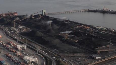 The Westshore Terminal near Vancouver, B.C. handles about 30 million tons of coal per year, loading it onto ships for export. Westshore spent $7 million upgrading pumps, rain guns and misting devices around the site used to dampen and control coal dust.