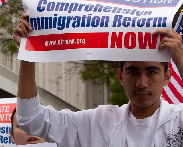 At a rally in Walla Walla calling for immigration reform in 2010.