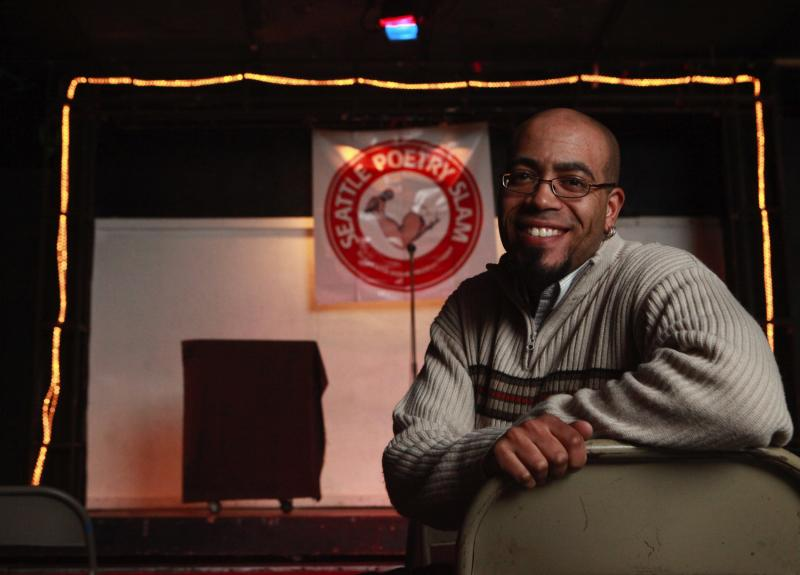 "Among his many roles, poet/slam artist Daemond Arrindell is ""slam master"" of the Seattle Poetry Slam, held weekly at Re-bar."